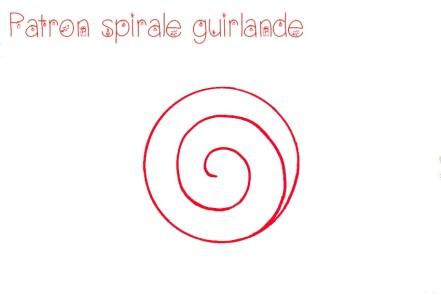 Patron Spirale Guirlande